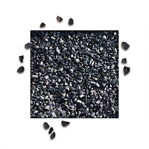 25 kg Marmorsplitt Ebano Schwarz Körnung 812 mm Zierkies Ziersplitt Deko Marmor Dekoration Splitt NEU