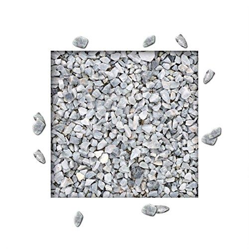 25 kg Marmorsplitt Eisblau Ziersplitt Deko Marmor Dekoration Splitt Zierkies Körnung 816 mm