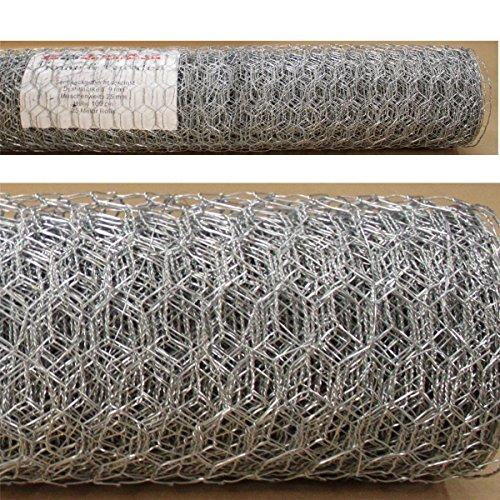 Sechseckgeflecht 15m x 25m - Maschung 25mm Hasendraht Kaninchendraht Maschendraht verzinkt