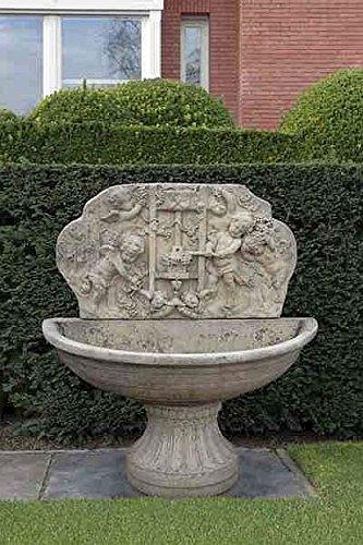 Brunnen Gartenbrunnen Zierbrunnen fountain H 160 Farbe sandstein