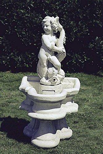 pompidu-living Brunnen Gartenbrunnen Zierbrunnen fountain H 87 Farbe sandstein