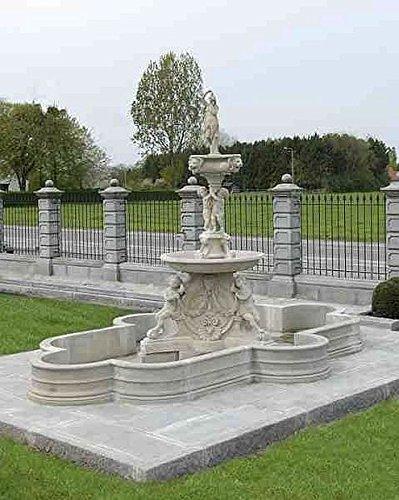pompidu-living Brunnen Gartenbrunnen Zierbrunnen fountain oval Farbe sandstein