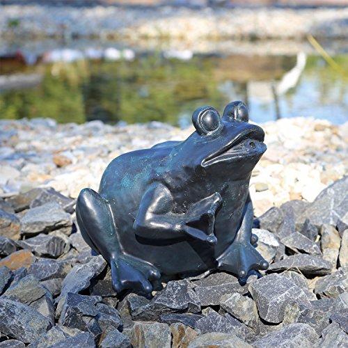 CLGarden Wasserspeier Figur Frosch für Teich Wasser Springbrunnen Teichfigur schwarzanthrazit 1832