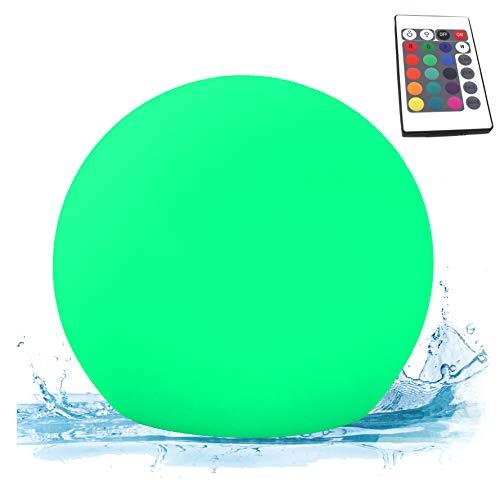 PK Green Erstklassige LED Kugel für Garten Außenbereich Outdoor  25cm Schwimmleuchte Wasserdicht IP67 für Pool Teich Wasser  Schwimmkugel Tischleuchte mit Akku Farbwechsel  Kugelleuchte RGB