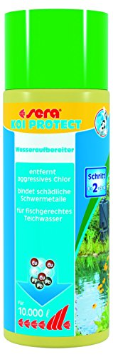 Sera 07214 KOI PROTECT 500 ml für 10000 Liter Teichwasser - Der optimale Schutz wertvoller Koi und Kaltwasserfische