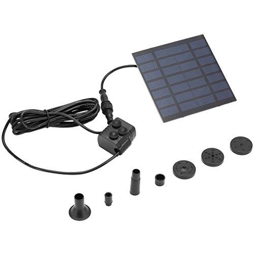 Tatayang Professionelle Solar Brunnen Solar Power Wasserpumpe Solar Panel Power Tauchpumpe Brunnen Teich Wasserpumpe Kit für Garten Pflanzen