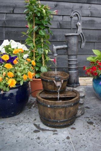Ubbink Wasserspiel Las Vegas Springbrunnen Set Holzfass Gartenbrunnen Brunnen von Gartenwelt Riegelsberger
