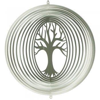 Edelstahl Windspiel - LEBENSBAUM 300 - lichtreflektierend - Durchmesser 275cm - inkl Aufhängung