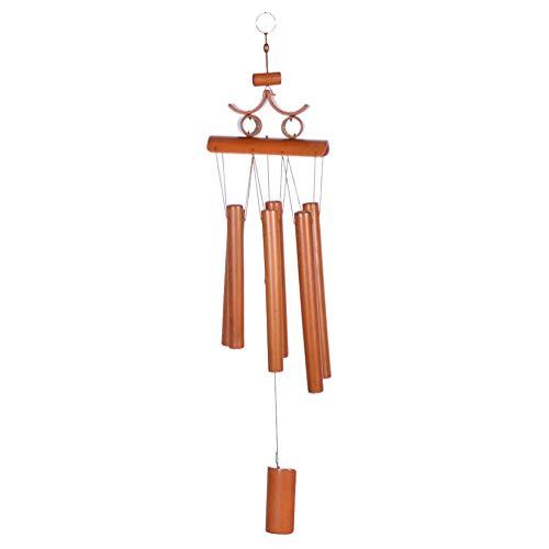 Kesheng Bambus Windspiel Klangspiel mit 6 Klangröhren Garten Feng Shui Dekoration