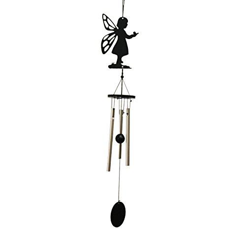 Engel 3-Rohr Metall Glück Glocke Orientalisch Hängende Windspiel Feng-Shui-Dekor
