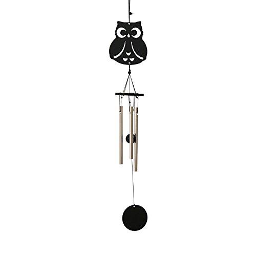 Eule 3-Rohr Metall Glück Glocke Orientalisch Hängende Windspiel Feng-Shui-Dekor