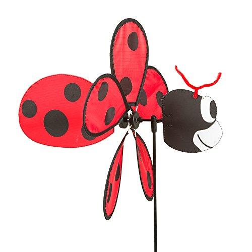 HQ Windspiration 100754 Spin Critter Ladybug UV-beständiges und wetterfestes Windspiel inklusive Standstab Ladybug Höhe 65 cm Tiefe 32 cm Ø 30 cm