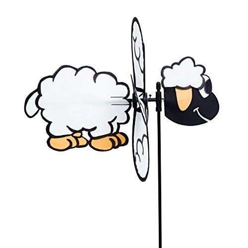 HQ Windspiration 100760 - Spin Critter Sheep UV-beständiges und wetterfestes Windspiel - Höhe 65 cm Tiefe 32 cm Ø 30 cm inkl Standstab