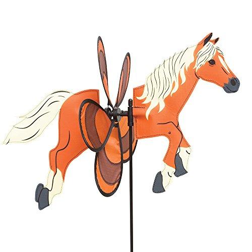 HQ Windspiration 100766 Spin Critter Pony UV-Beständiges und wetterfestes Windspiel inkl Standstab Pony Höhe 63 cm Tiefe 50 cm Ø 30 cm