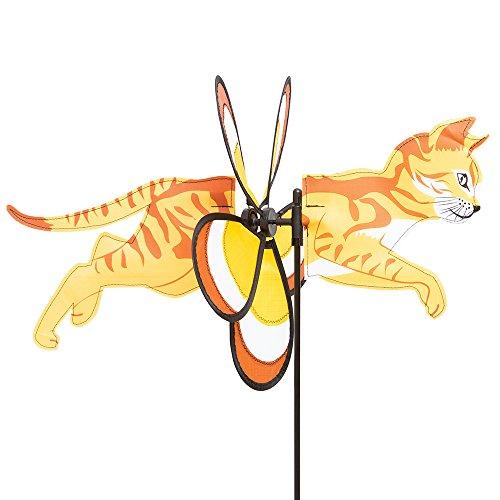 HQ Windspiration 100768 Spin Critter Kitty Cat UV-Beständiges und wetterfestes Windspiel inkl Standstab Kitty Cat Höhe 63 cm Tiefe 48 cm Ø 30 cm