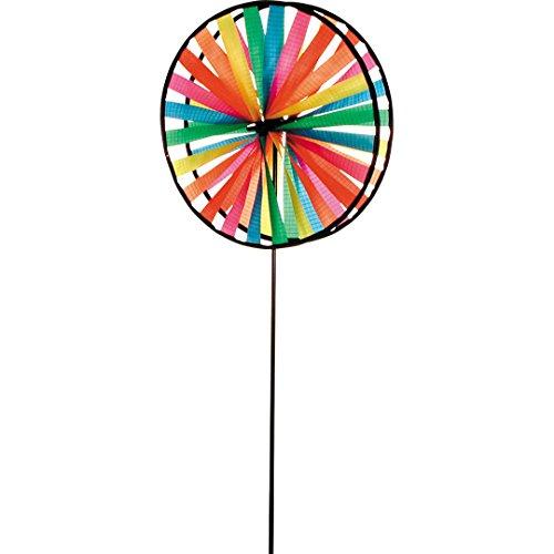 HQ Windspiration 100876 - Magic Wheel Duett UV-beständiges und wetterfestes Windspiel - Höhe 79 cm Tiefe 16 cm Ø 28 cm inkl Standstab