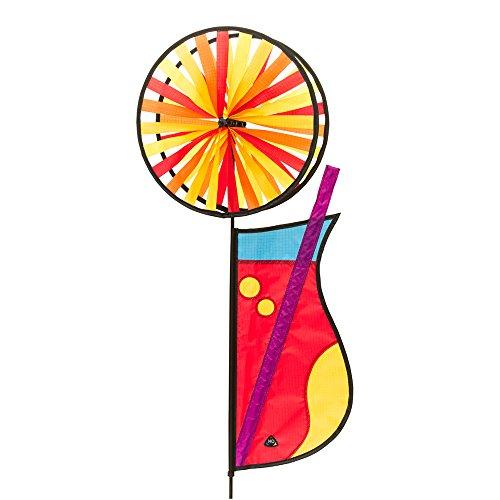 HQ Windspiration 10087610 Magic Wheel Duett Cocktail UV-beständiges und wetterfestes Windspiel inkl Standstab Duett Cocktail Höhe 77 cm Breite 34 cm Tiefe 16 cm Rad-Ø 28 cm