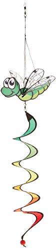 HQ Windspiration 109462 - Dragonfly Twist green UV-beständiges und wetterfestes Windspiel - Länge 90 cm Breite 28 cm Tiefe 20 cm inkl Aufhängung