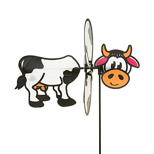 HQ Windspiration HQ100762 Spin Critter Cow UV-beständiges und wetterfestes Windspiel inklusive Standstab Cow Höhe 65 cm Tiefe 32 cm Ø 30 cm