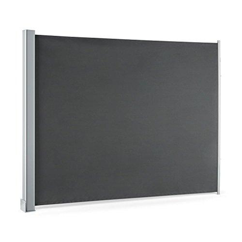 blumfeldt Cosmo • Balkonmarkise • Rollo • Markise • Seitenmarkise • 150 x 200 cm • wetterbeständig • wasserabweisend • UV-beständig • Vollkassette • Aufrollmechanismus • anthrazit