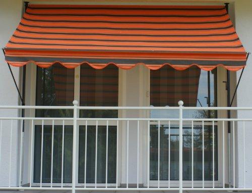 Angerer 23036100 Klemmmarkise Dralon Nr 6100 Orange 350 cm