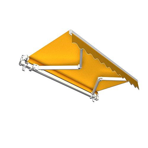 Markise Alu - Gelenkarm Aluminium Markisen - stabil 350 x 300 cm  gelb 350 x 300 m
