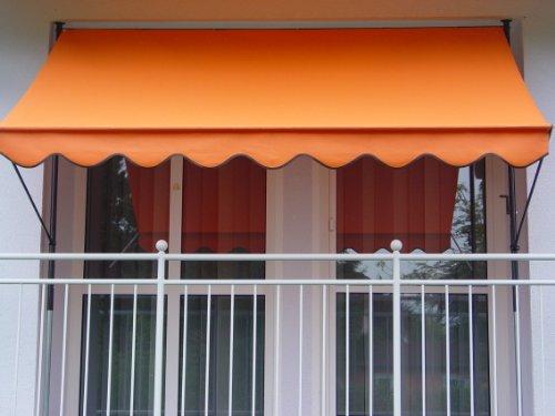Angerer Klemmmarkise PE-Gewebe Uni Orange 250 cm