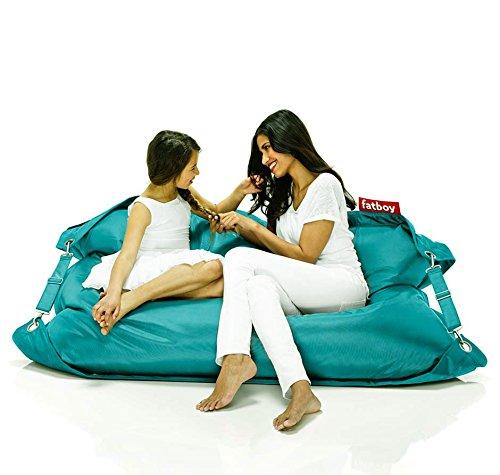 FATBOY Outdoor türkis Kult Sitzsack für draußen Original mit verstellbarem Gurt