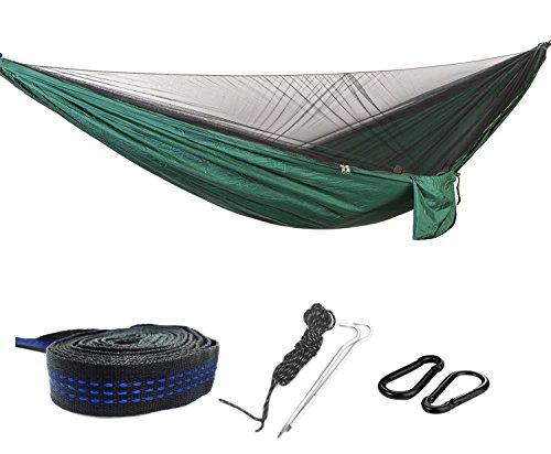 270  140cm Hängematte im Freien mit Moskitonetz Leichte Camping Hängematten Ultraleichte tragbare N