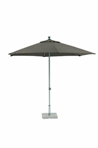 Kettler Sonnenschirm Easy Push – runder Sonnenschirm 3 Meter Durchmesser – witterungsbeständiger Balkonschirm mit manueller Neigungsverstellung – bietet UV-Schutz 50