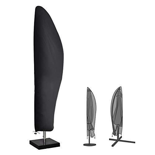 Velway Sonnenschirm Schutzhülle Ampelschirm Abdeckung Wasserdicht Sonnenschirmhülle 420D Oxford Gewebe für 25m-35m Sonnenschirm mit Reißverschluss Kordelzug Aufbewahrungstasche 265cmx40cm70cm50cm
