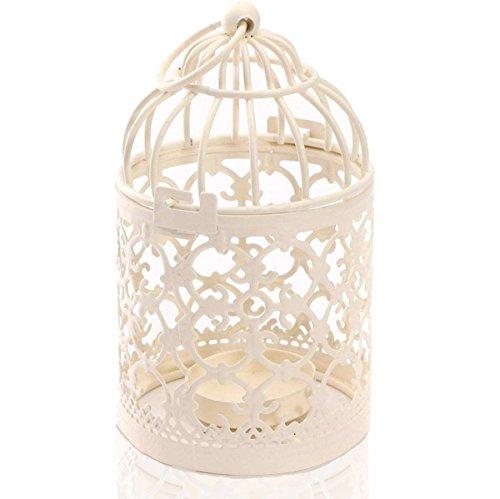 Leisial Teelichthalter-Laterne aus Metall Vogelkäfig-Design als Dekoration zur Hochzeit für Zuhause und auf dem Tisch