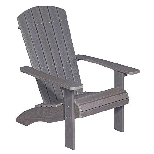 NEG Design Adirondack Stuhl MARCY grau-braun Westport-ChairSessel aus Polywood-Kunststoff Holzoptik wetterfest UV- und farbbeständig