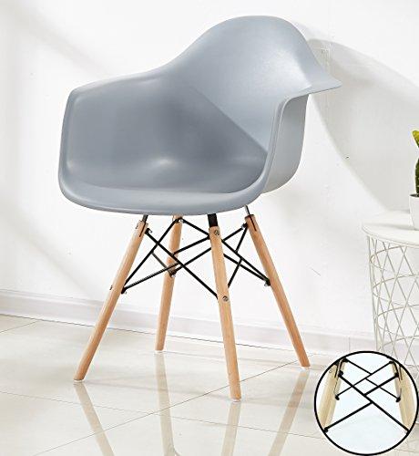 P N Homewares Romano Sessel Tub Stuhl Esszimmerstuhl in Grau Skandinavischer Design Stuhl