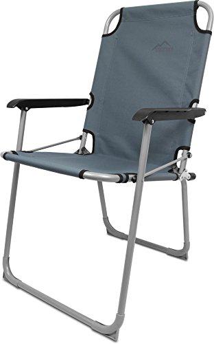 normani Ultraleichter Camping Alu-Klappstuhl - Angelstuhl Anglerstuhl Camping-Stuhl Faltbar bis 90 kg Belastbarkeit Farbe Grau