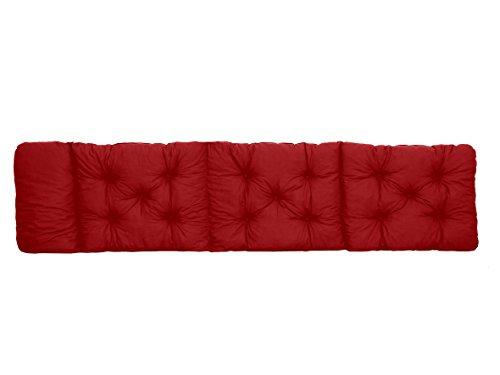 Ambientehome Deckchair Auflage für Liege rot ca 195 x 49 x 8 cm Polsterauflage Kissen