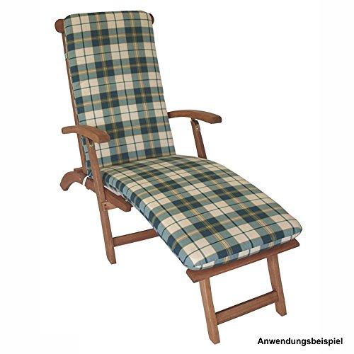 Auflage Boston Deckchair 175x50x5cm kariert Liegenauflage Liegekissen