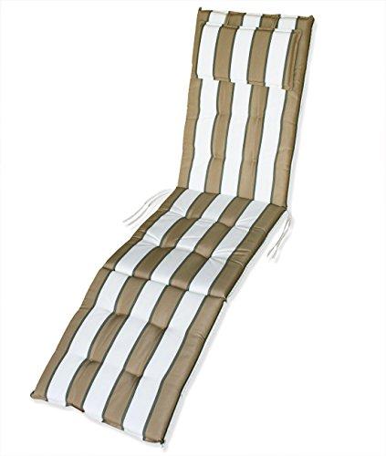 KMH Auflage für Relaxliege  Deckchair beigegestreift 105030