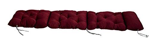 Meerweh Deckchair Auflage für Liege Polsterauflage Kissen rot 195 x 49 x 10 cm