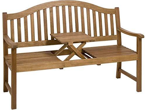 Sedex Utah Gartenbank mit Tischablage aus Akazienholz Natur