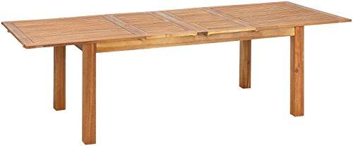 greemotion Ausziehtisch Borkum akazie Gartentisch aus FSC zertifiziertem Akazienholz ausziehbarer Esstisch besonders robust und witterungsbeständig Maße ca 180260 x 100 x 74 cm