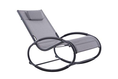 Vivere WAVEROCK1-GB Sessel Grau auf Mattschwarz