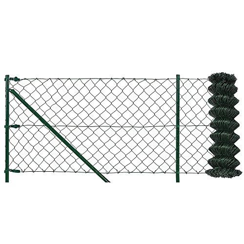 protec Maschendrahtzaun Komplettset grün verzinkt 125m x 15m Schweißgitter Volierendraht Zaun