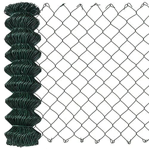 protec Maschendrahtzaun grün verzinkt 15m x 15m Schweißgitter Volierendraht Zaun