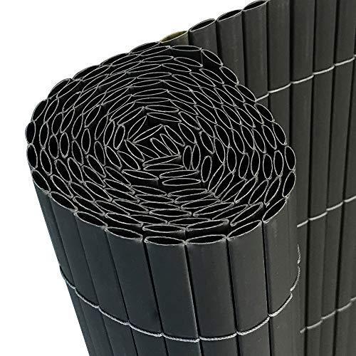 AUFUN Sichtschutzmatte PVC 400x90cm - Sichtschutzzaun Anthrazit Windschutz fur Garten Balkon und Terrasse 400x90cmAnthrazit