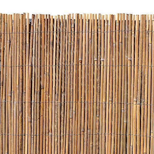 ESTEXO Bambusmatte - Sichtschutzzaun Gartenzaun Natur Bambus Zaun Sichtschutz Windschutz 100m x 400m