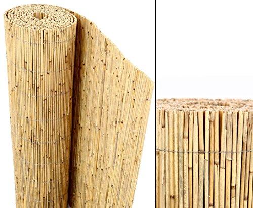 Schilfrohrmatten Premium Beach 180 hoch x 600cm breit ein Produkt von bambus-discount - Sichtschutz Matten Windschutzmatten