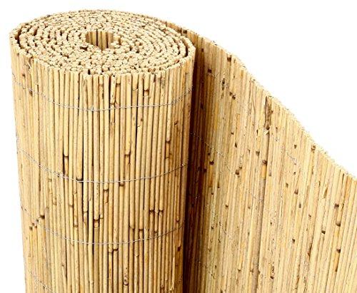 Schilfrohrmatten Premium Beach 200 hoch x 600cm breit ein Produkt von bambus-discount - Sichtschutz Matten Windschutzmatten …