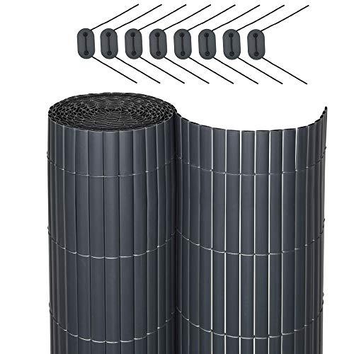 Sol Royal SolVision P78 - PVC Sichtschutz für Balkon Terrasse 120 x 400 cm Anthrazit Sichtschutzzaun Sichtschutzmatte