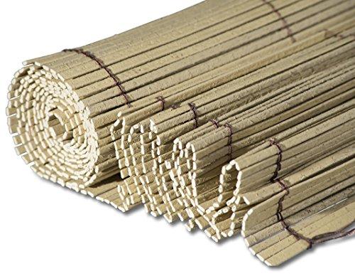 Windhager Sichtschutzmatte Bamboo LongLife aus PVC Bambusoptik Windschutz Sichtschutz 1 x 3 m 06697